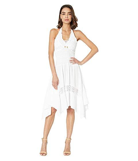 SCULLY ドレス 白 ホワイト 【 WHITE SCULLY CANTINA ALAYSIA FLIRTY HALTER DRESS 】 レディースファッション ワンピース