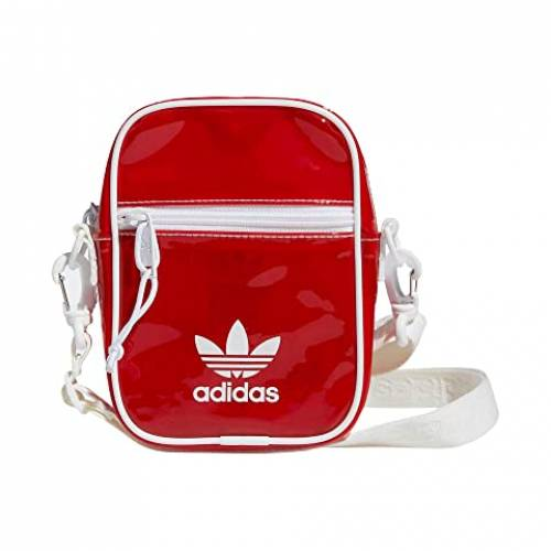 アディダスオリジナルス ADIDAS ORIGINALS 赤 レッド 白 ホワイト 【 RED WHITE ADIDAS ORIGINALS TINTED FESTIVAL CROSSBODY LUSH 】 バッグ