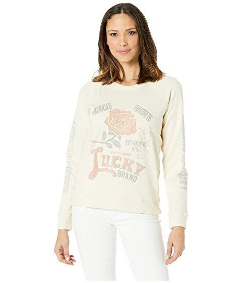 【海外限定】ローズ カットソー レディースファッション 【 ROSE LUCKY BRAND SWEATSHIRT 】【送料無料】