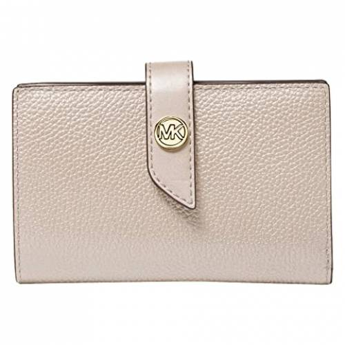 MICHAEL MICHAEL KORS ウォレット 財布 砂色 サンド 【 WALLET MICHAEL KORS CHARM MEDIUM TAB LIGHT SAND 】 バッグ