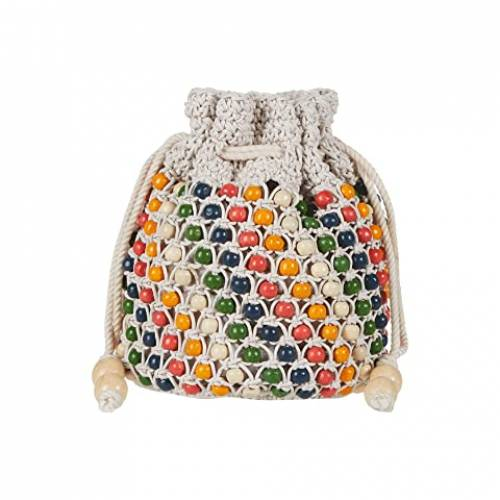 MADEWELL 【 MADEWELL BEADED DRAWCORD CLUTCH BRIGHT EMBER MULTI 】 バッグ