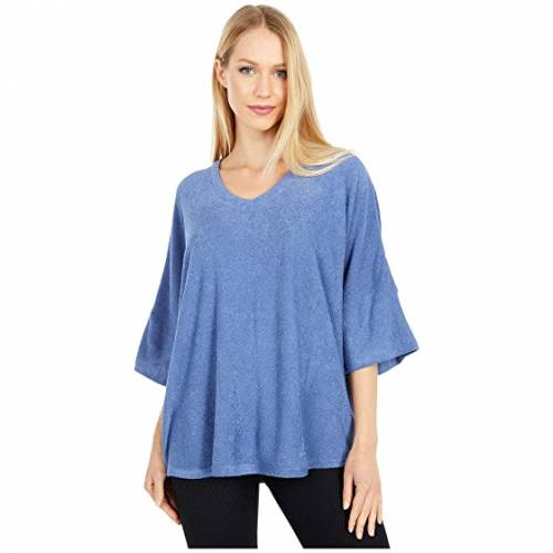 N BY NATORI 青 ブルー 【 BLUE N BY NATORI TERRY LOUNGE TOP STORMY 】 インナー 下着 ナイトウエア レディース ナイト ルーム パジャマ
