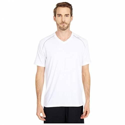 TASC PERFORMANCE パフォーマンス ブイネック Tシャツ 白 ホワイト ヘザー 灰色 グレー グレイ 【 WHITE HEATHER GRAY TASC PERFORMANCE CARROLLTON VNECK TEE 】 メンズファッション トップス Tシャツ カットソ