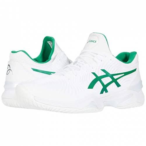 アシックス ASICS カウント 白 ホワイト 緑 グリーン スニーカー 【 WHITE GREEN ASICS COURT FF NOVAK 】 メンズ スニーカー