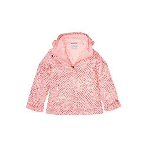 コロンビアキッズ COLUMBIA KIDS フリース ピンク BUGABOO・・ 【 PINK COLUMBIA KIDS II FLEECE INTERCHANGE JACKET LITTLE BIG ORCHID CHEVRON PRINT 】 キッズ ベビー マタニティ コート