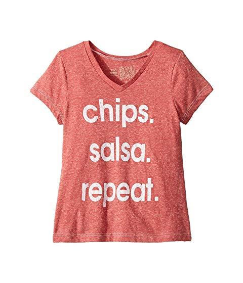 【海外限定】Tシャツ マタニティ キッズ 【 CHIPS SALSA REPEAT TRIBLEND TSHIRT BIG KIDS 】