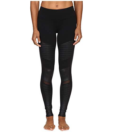 アロー ALO レギンス タイツ 黒 ブラック 【 BLACK ALO MOTO LEGGINGS 】 レディースファッション ボトムス パンツ