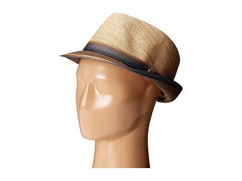 【海外限定】バッグ 麦わら帽子 【 MATTE RAFFIA BRAID FEDORA WITH STRIP RIBBON BAND 】