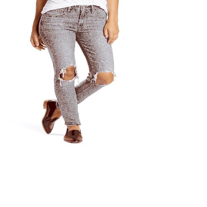 【海外限定】ハイ パンツ レディースファッション 【 721 RIPPED HIGH WAIST SKINNY JEANS 】【送料無料】