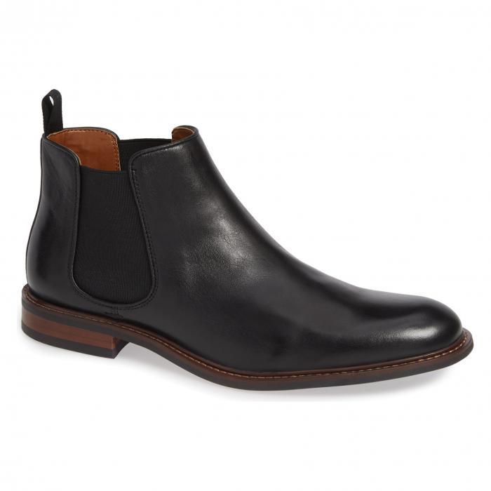 【NeaYearSALE1/1-1/5】NORDSTROM MEN'S SHOP 【 DAVID CHELSEA BOOT BLACK LEATHER 】 メンズ ブーツ 送料無料