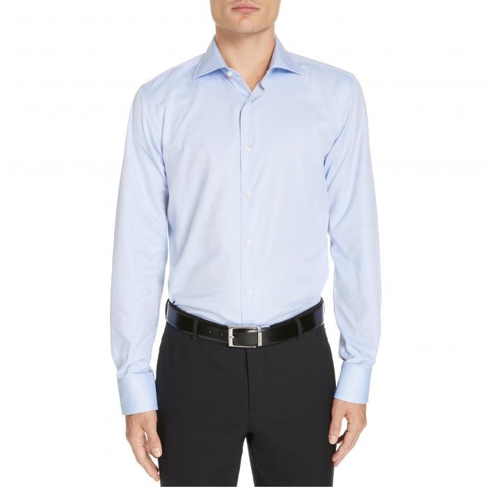 CANALI スリム ドレス 【 SLIM FIT PRINT DRESS SHIRT BLUE 】 メンズファッション トップス カジュアルシャツ 送料無料