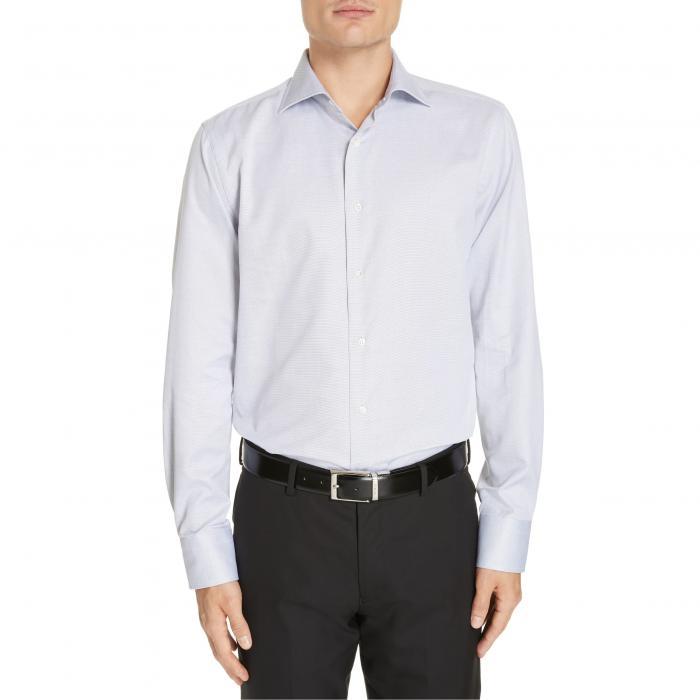 CANALI スリム ドレス 【 SLIM FIT PRINT DRESS SHIRT GREY 】 メンズファッション トップス カジュアルシャツ 送料無料