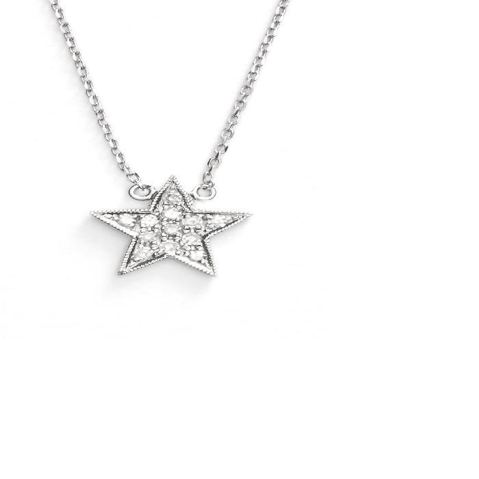 【海外限定】ダイヤモンド ネックレス 'JULIANNE HIMIKO' レディースジュエリー ジュエリー 【 DIAMOND STAR PENDANT NECKLACE 】