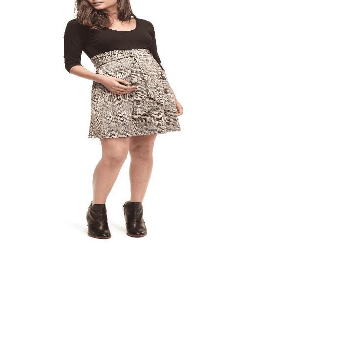 【海外限定】ドレス 授乳服 ママ 【 SCOOP NECK MATERNITY DRESS 】