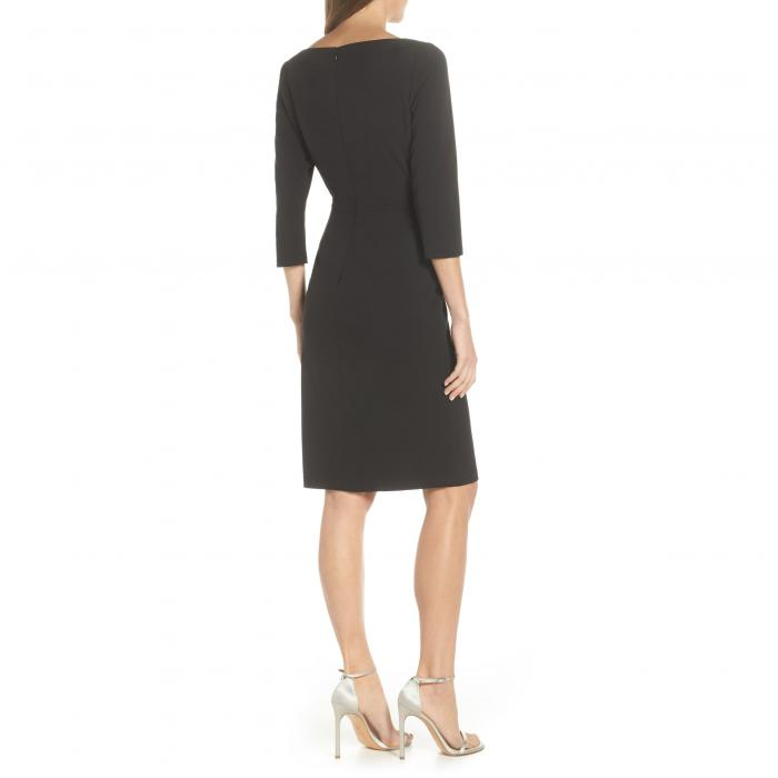 VINCE CAMUTO 【 ANGLED RUFFLE SHEATH DRESS BLACK 】 レディースファッション ドレス 送料無料