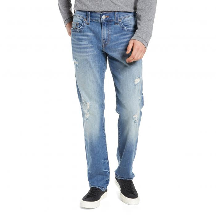 TRUE RELIGION BRAND JEANS 【 GENO STRAIGHT LEG FQTM DESTROYED METEOR STORM 】 メンズファッション ズボン パンツ 送料無料