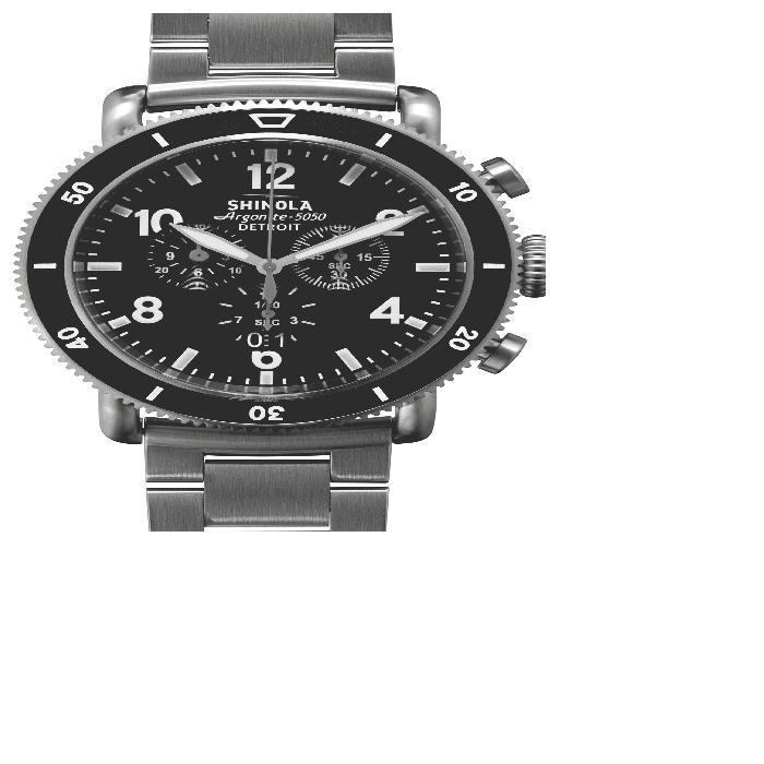 【海外限定】黒 ブラック ストラップ 'THE BLIZZARD' WATCH, メンズ腕時計 腕時計 【 BLACK CHRONOGRAPH INTERCHANGEABLE STRAP 48MM 】