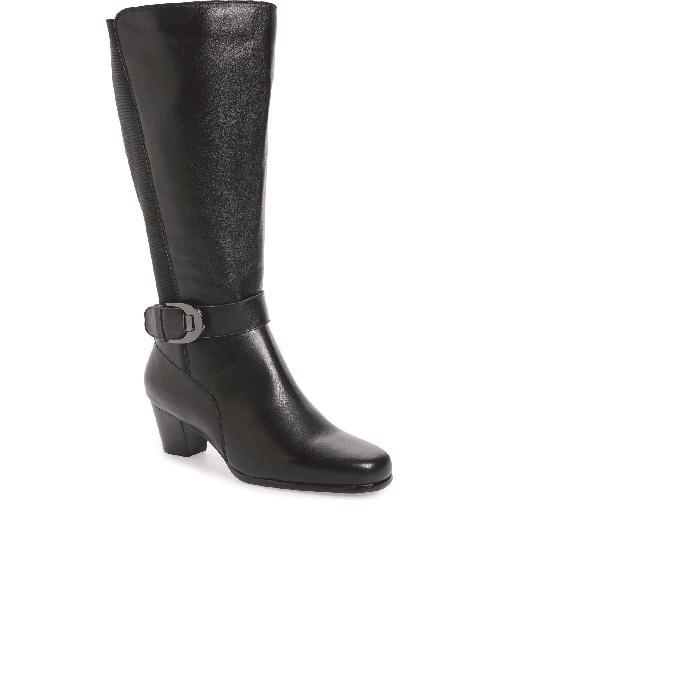 デイビッドテイト DAVID TATE ブーツ レディース 【 Bonita 18 Boot 】 Black Leather Fabric