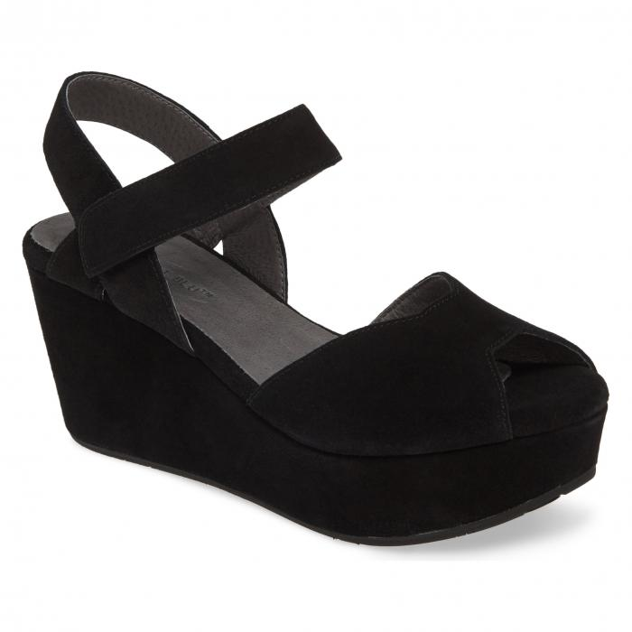 【スーパーセール商品 12/4-12/11】CHOCOLAT BLU 【 WARFORD PLATFORM WEDGE SANDAL BLACK SUEDE 】 送料無料
