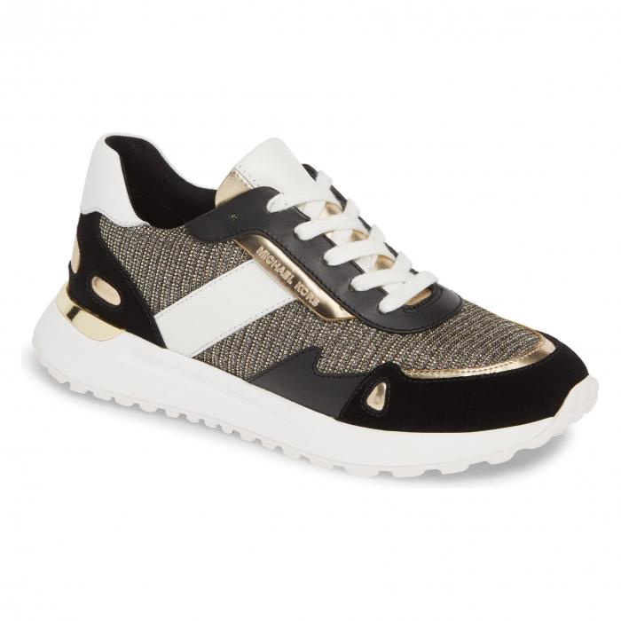 色々な MICHAEL KORS スニーカー 【 MONROE LOW TOP SNEAKER BLACK GOLD MULTI 】 送料無料, WODYZ 6de586d4