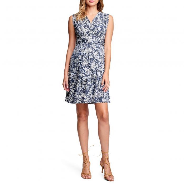 【海外限定】ドレス ママ ワンピース 【 TIE FRONT MATERNITY DRESS 】【送料無料】
