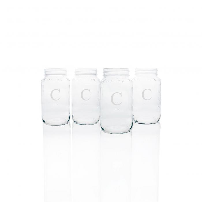 【海外限定】コーヒー 調理器具 【 MONOGRAM GLASS MASON JAR MUGS 】