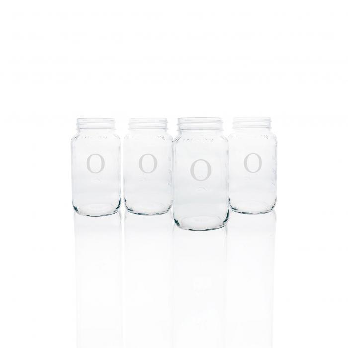 【海外限定】調理器具 コーヒー 【 MONOGRAM GLASS MASON JAR MUGS 】