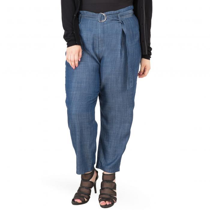 STANDARDS & PRACTICES 【 MARINA BELTED PAPERBAG WAIST PANTS BLUE 】 レディースファッション ボトムス パンツ 送料無料