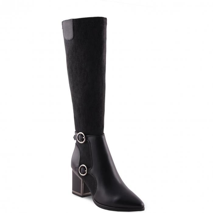 AQUADIVA ハイ ブーツ レディース 【 Ivey Waterproof Knee High Boot 】 Black Leather