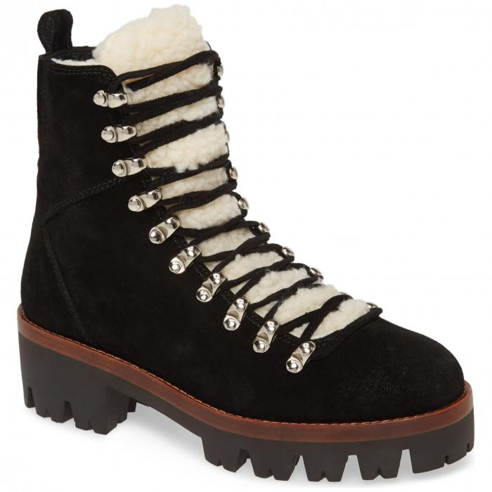 JEFFREY CAMPBELL ブーツ レディース 【 Culvert Boot 】 Black Suede Ivory