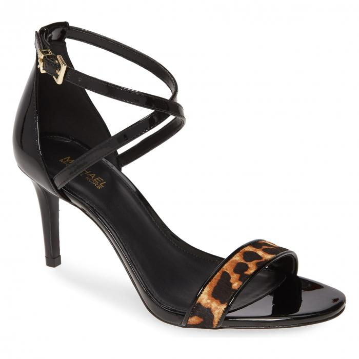 【スーパーセール商品 12/4-12/11】MICHAEL KORS 【 AVA GENUINE CALF HAIR STRAPPY SANDAL CHEETAH PRINT 】 送料無料