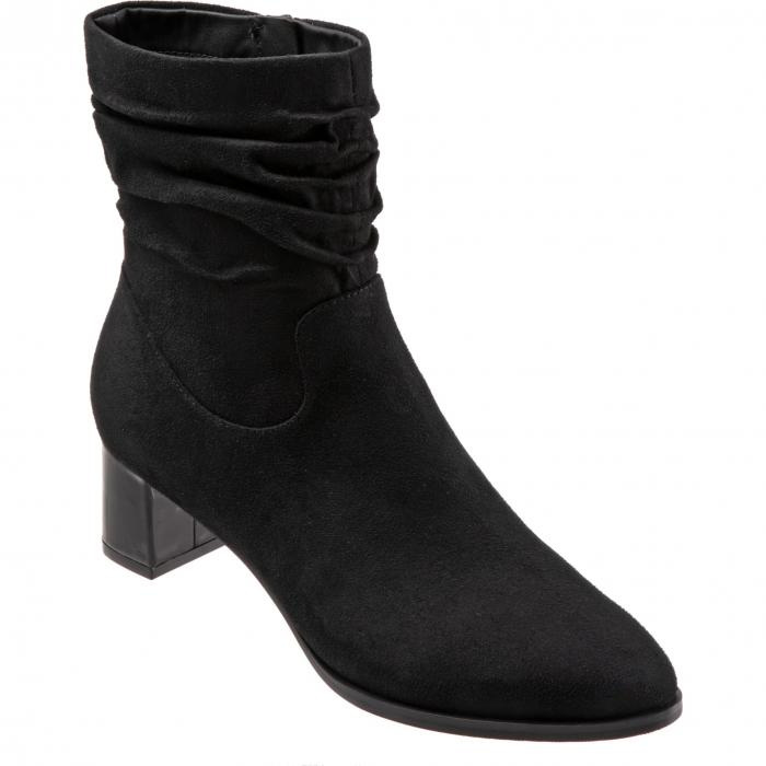 TROTTERS 【 KRISTA SLOUCHY BOOTIE BLACK FAUX SUEDE 】 送料無料