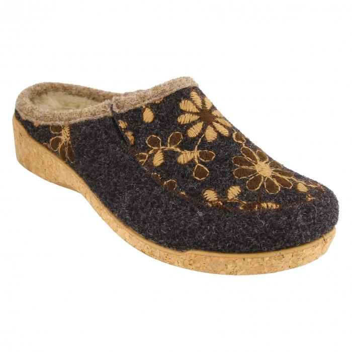 TAOS 【 WOOLDERNESS 2 EMBROIDERED WOOL SLIPPER CHARCOAL 】 送料無料