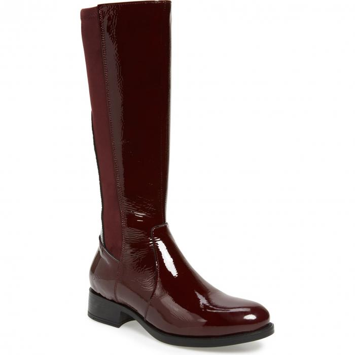 BOS. & CO. パテント 【 BEAU TALL WATERPROOF BOOT BORDEAUX PATENT LEATHER 】 送料無料