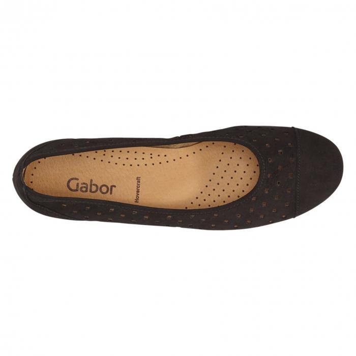 【海外限定】コンフォートシューズ レディース靴 【 GABOR PERFORATED BALLET FLAT 】