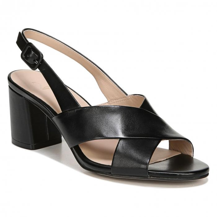 【スーパーセール商品 12/4-12/11】27 EDIT 【 DELLA SLINGBACK SANDAL BLACK LEATHER 】 送料無料