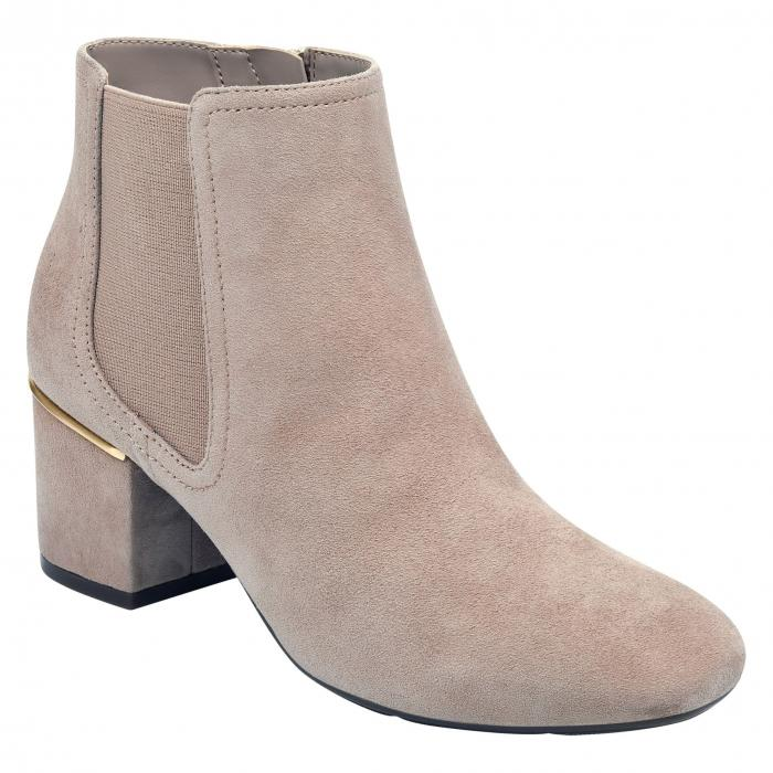 EVOLVE 【 NADIA BOOTIE TAUPE LEATHER 】 送料無料