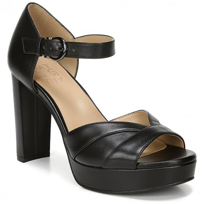 【スーパーセール商品 12/4-12/11】NATURALIZER 【 MALINA PLATFORM SANDAL BLACK LEATHER 】 送料無料