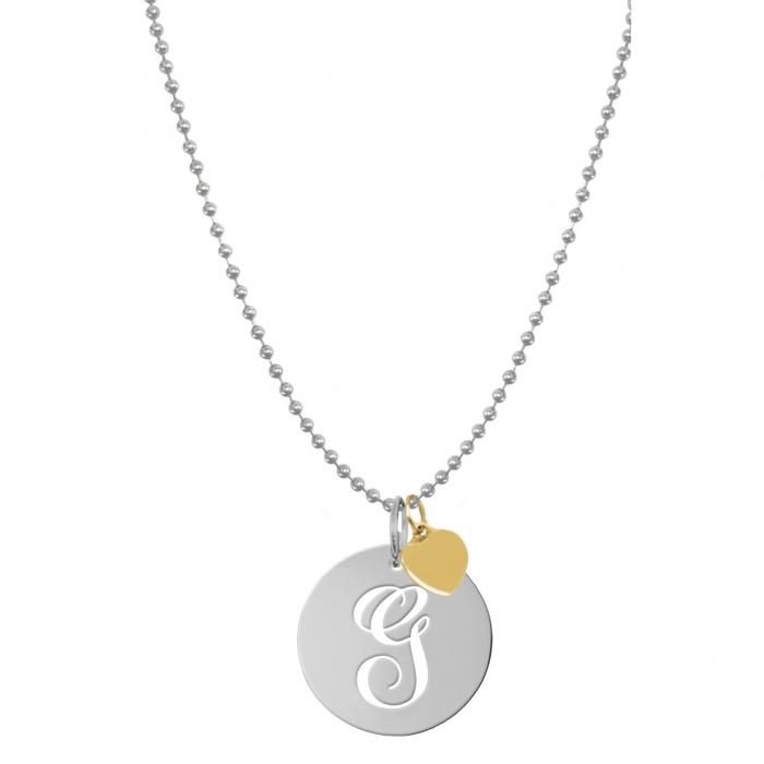 JANE BASCH DESIGNS スクリプト 【 PERSONALIZED SCRIPT INITIAL DISC PENDANT NECKLACE SILVER G 】 ジュエリー アクセサリー レディースジュエリー ネックレス 送料無料