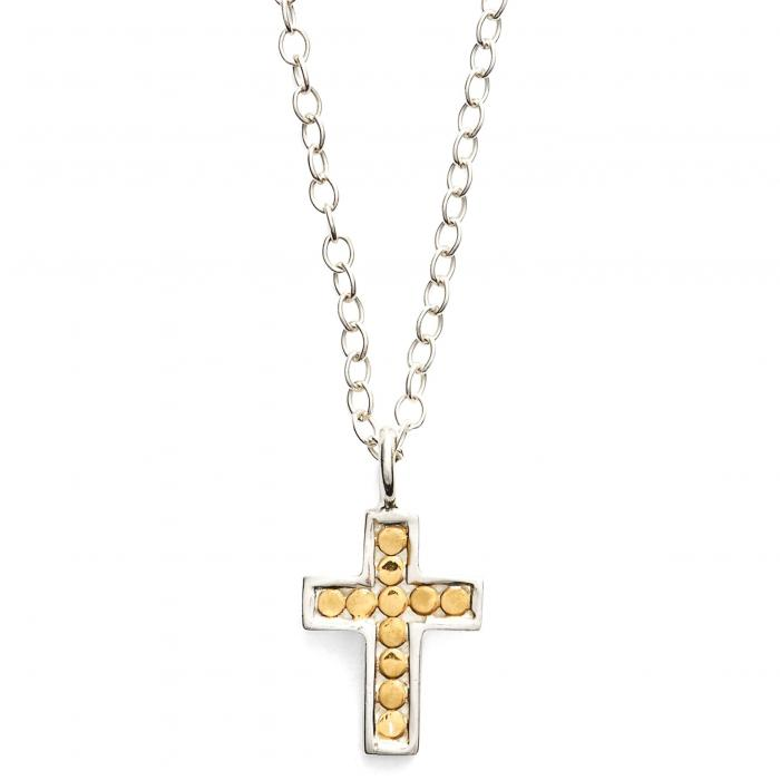 ANNA BECK リバーシブル 【 REVERSIBLE MINI CROSS NECKLACE GOLD SILVER 】 ジュエリー アクセサリー レディースジュエリー ネックレス 送料無料
