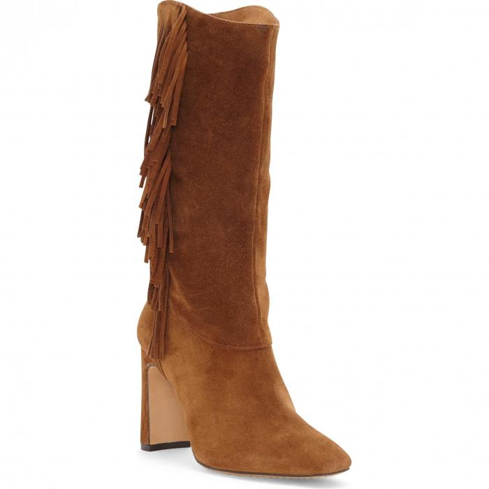 VINCE CAMUTO 茶 ブラウン 【 BROWN STERLA FRINGE BOOT VINTAGE SMOKEY SUEDE 】 送料無料