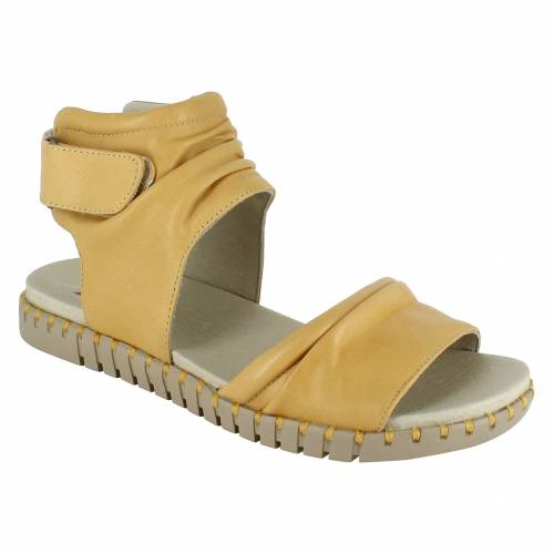 NATIONAL COMFORT ストラップ 【 ORLIE ANKLE STRAP SANDAL YELLOW LEATHER 】 送料無料