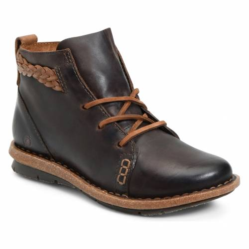 B?RN テンプル 茶 ブラウン 【 BROWN TEMPLE BOOTIE DARK DISTRESSED LEATHER 】 送料無料