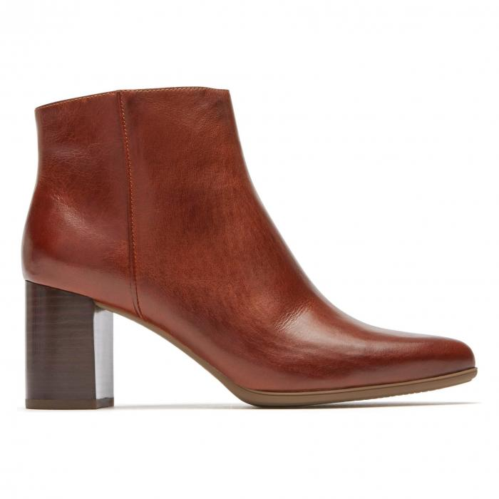 ROCKPORT レディース 【 Lynix Luxe Bootie 】 Saddle Leather