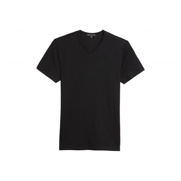 ROBERT BARAKETT ブイネック Tシャツ メンズファッション トップス カットソー メンズ 【 Georgia Regular Fit V-neck T-shirt 】 Black