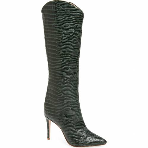 SCHUTZ 緑 グリーン 【 GREEN MARYANA POINTY TOE BOOT DEEP LEATHER 】