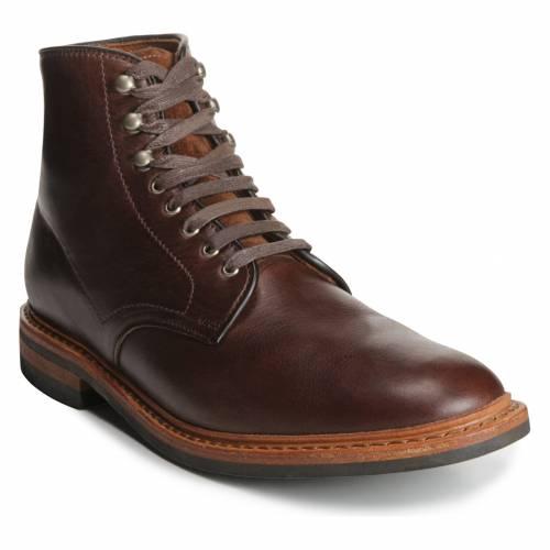 ALLEN EDMONDS ブーツ メンズ 【 Higgins Mill Plain Toe Boot 】 Brown Chromexel Leather