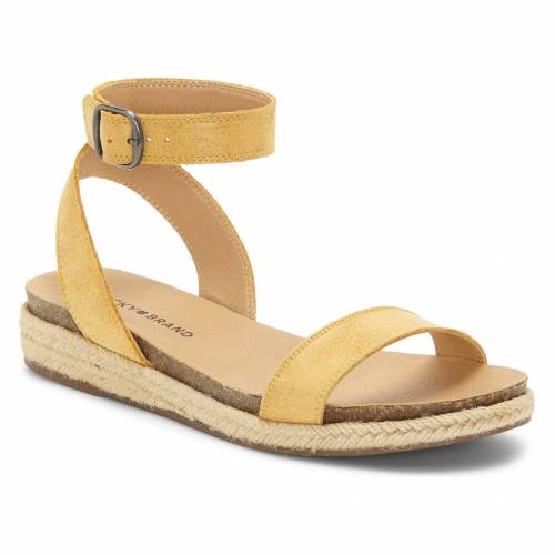 LUCKY BRAND 【 GARSTON ESPADRILLE SANDAL GOLDEN ROD LEATHER 】 送料無料