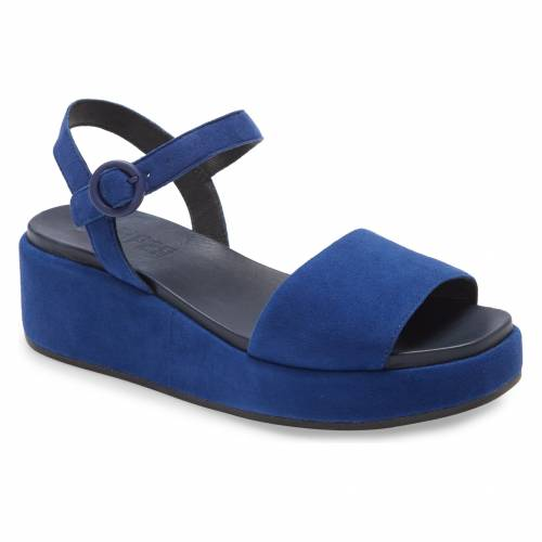 カンペール CAMPER 【 MISIA PLATFORM WEDGE SANDAL NAVY LEATHER 】 送料無料