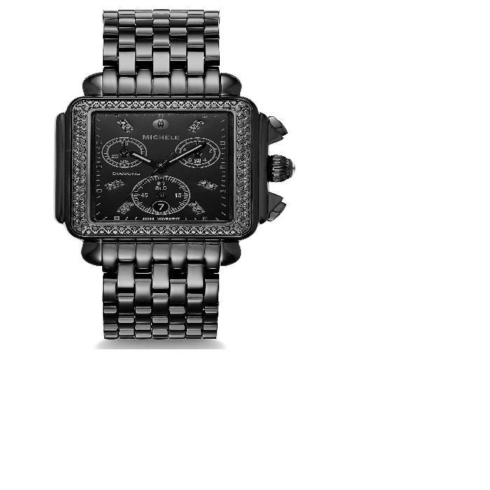 【海外限定】ダイヤモンド ウォッチ 時計 & BRACELET, 腕時計 レディース腕時計 【 WATCH DECO DIAMOND HEAD 34MM X 35MM 】
